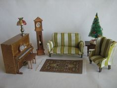 VTG Dollhouse Furniture  9 Piece Living Room Set  112 by TheToyBox