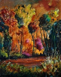 Nature in Houroy, painting by artist ledent pol