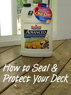 How to seal & protect your deck