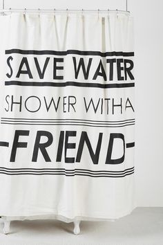Save Water Shower Curtain #urbanoutfitters
