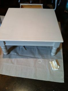 Coffee table painted with Martha Stewart Sharkey Gray