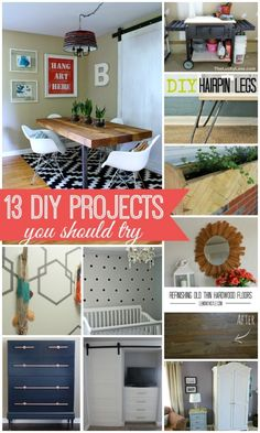13 DIY Projects You