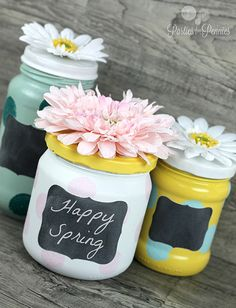 Anthropologie Mashup! Repurpose Glass Jars. A DIY Craft by Parties with Pennies for LivingLocurto.com