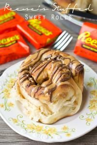 Reese's Stuffed Sweet Rolls are a sweet way to start your day!  We love these for breakfast or a snack!