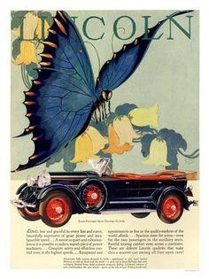 lincoln art deco car advert