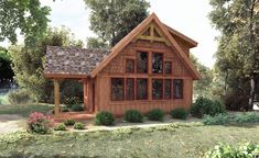 CedarRun has 832 sq ft. with a large living room, 2 bedrooms and 2 full bathrooms. Timber Frame Cabin  Cabin Plans - Pre-Designed Floor Plans | Woodhouse