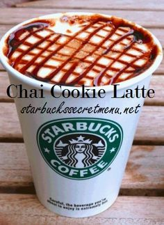 Chai Cookie Latte! Some sweetness, some spice and some crunch, yum! Recipe: http://starbuckssecretmenu.net/starbucks-secret-menu-chai-cookie-latte/