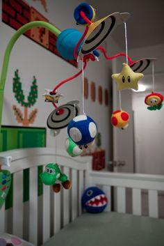 Super Mario Nursery - soooooo cool! #Mobile #Baby #Nursery
