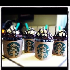 Starbucks cupcakes <3 they taste just like a double chocolate chip frap!