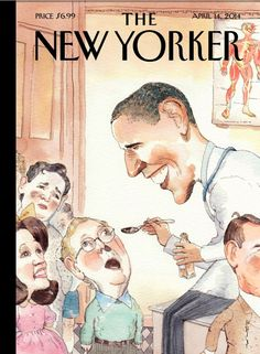 New Yorker Cover Depicts Obama Spoon-Feeding McConnell Medicine - Democratic Underground