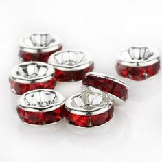 Genuine Swarovski 6mm Light Siam Red Silver by BestBuyDesigns