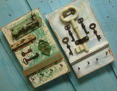 Key Holder Rack Gray Cloud Skeleton Key. $49.00, via Etsy.