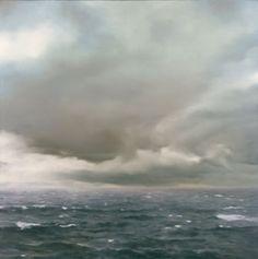 #Richter, Gerhard. Cloudy Seascape, 1969.