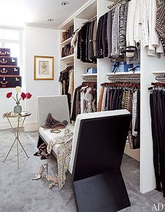 Closet/wardrobe inspiration - Nina Garcia's Upper East Side Apartment NYC/Closet