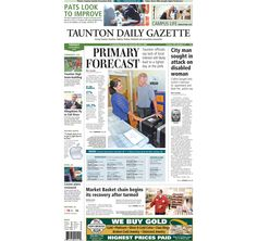 The front page of the Taunton Daily Gazette for Tuesday, Sept. 9, 2014.