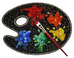 """Mosaic """"A Touch of Color"""" by Sherry Donnino"""