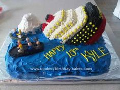character cakes, titanic cakes, cake idea, homemade cakes, 10th birthday