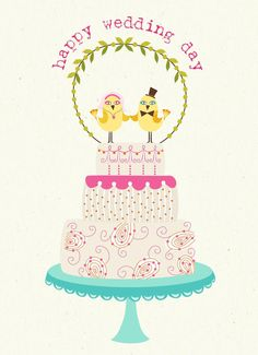 """Happy Wedding Day"" Greeting Card"