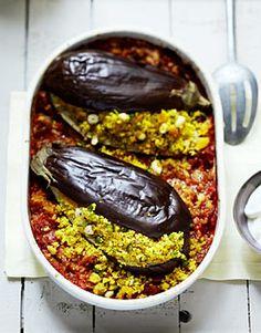 Auberginen mit Couscous - Rezepte - [LIVING AT HOME]