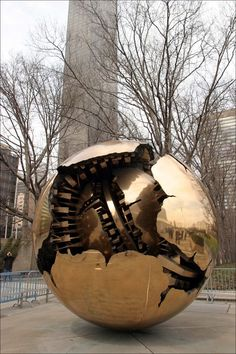 World sculpture at United Nations headquarters