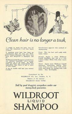 1921 ad: Wildroot Liquid Shampoo