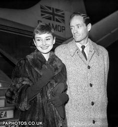 Audrey Hepburn in a Mink Coat
