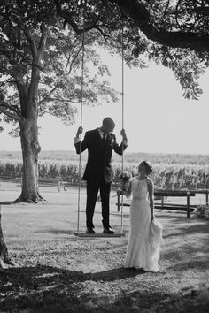 Bride & Groom swing portrait // Equestrian Winery Wedding // Madison Rose Photography
