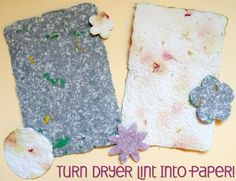 Make Paper from Dryer Lint!!!