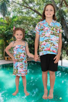 Having a sister is like having a best friend you can't get rid of ❤️Get your brother sister matching Flamingo sets from us today! 🙌🏼 Also available in Pink. 💕Many matching options for the whole family or group.  #hawaiianshirt #partyshirt #brothersister #matchymatchy #bestfriend #flamingoparty #flamingoshirt #siblingset #siblingmatching #matchingkidsclothing #matchingclothing #luau #cruise #cruisewear #beachwedding #vacay #holidayclothing