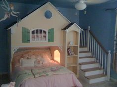 Girls Bunk Bed Completed. such a cute idea for two little girls!