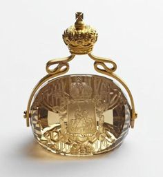 The seal of Grand Duke Sergei Alexandrovich was made in 1898, by B. Reimer. |  Photo & Source: ROYAL RUSSIA