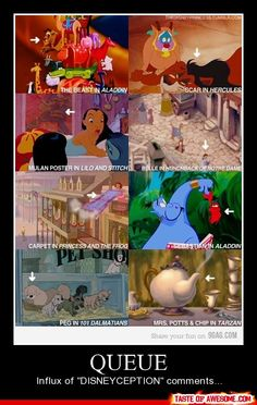 Ha I noticed ALL of this while watching the movies :) I love how Disney does this
