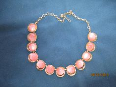 Vintage Light Pink Thermoset Necklace by BitofHope on Etsy