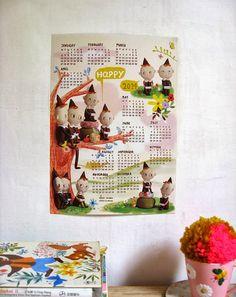 misako mimoko: ☆ New 2014 Calendar ☆ #pixieelf #kneehugger #elves #calendar