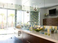 colorful tiled master bath