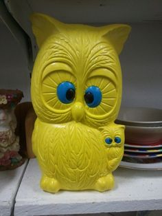 Owl piggy bank. Contact if interested.