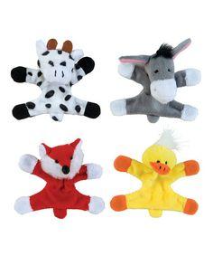 Barnyard Buddies Plush Magnet - Set of 12 #zulily #zulilyfinds