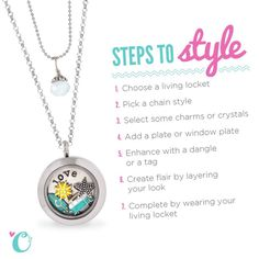 Love Origami Owl Living Lockets but aren't sure where to start? Check out this handy Steps to Style guide! You'll be stylin' in no time.
