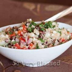 This is a great recipe...i loved it, served with grilled chicken >Greek Quinoa Salad
