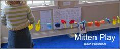 At play with mittens like the Three Little Kittens clotheslines, books, mitten clotheslin, preschool idea, kittens, paintings, marvel mitten, teach preschool, preschool winter