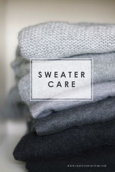 DIY: Sweater Care ~ Craft and Couture