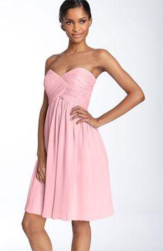 Donna Morgan Strapless Silk Chiffon Dress | Nordstrom