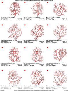Jacobean embroidery charts (machine)