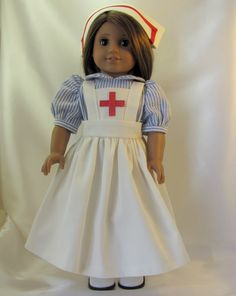 Old Fashioned Nursing outfit for 18 inch by jillsfabricdesigns, $20.00