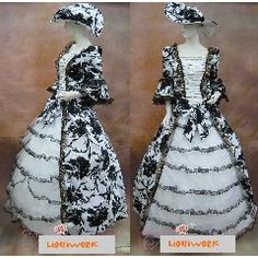 Historical Victorian Edwardian Period Clothing Wedding Dresses Ball Gowns Costumes - Liquiwork