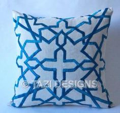 Another turquoise Moroccan print I love.