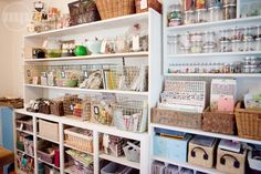 wire basket, studio, craft space, room organization, craft organization, around the house, marci penner, crafts, craft rooms