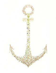 Two things I love. Anchors and Flowers.