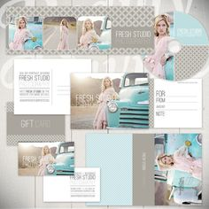 Photography Marketing Templates:  Fresh Studio - Marketing Set of 14 Business Templates by Beauty Divine