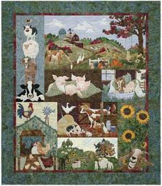 BACK ON THE FARM BLOCK OF THE MONTH QUILT KIT